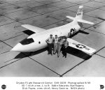 X-1 with work crew 1949